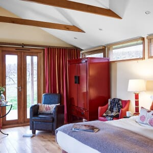 Inside view of the luxury lodge bedroom