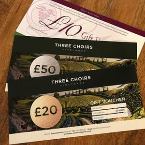 Monetary Gift Vouchers available to buy at Three Choirs Vineyards